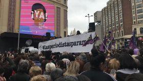 El lema de la concentración era #lasperiodistasparamos