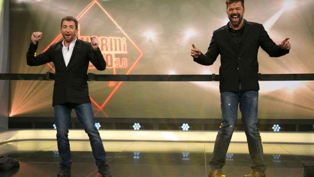 Ricky Martin con Pablo Motos.
