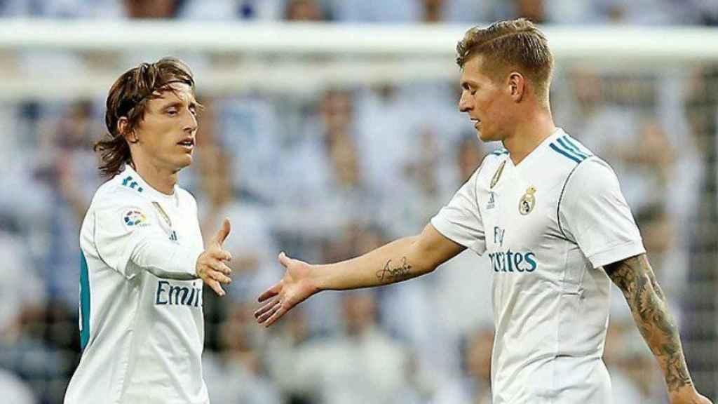Kroos y Modric, en un partido del Real Madrid