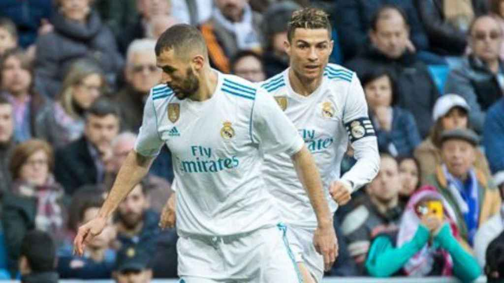 Benzema y Cristiano Ronaldo Foto: Pedro Rodríguez / El Bernabéu