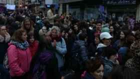 Imagen de la manifestación del Día de la Mujer en Cuenca