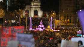 Manifestación en Madrid como colofón a la jornada reivindicativa del Día Internacional de la Mujer.