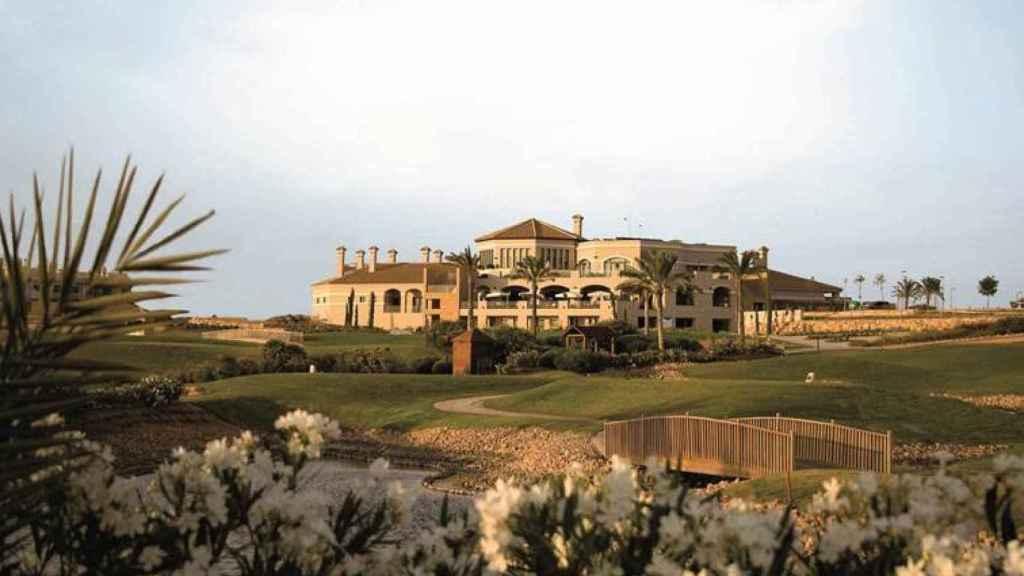 Vista del resort Hacienda el Álamo en Murcia
