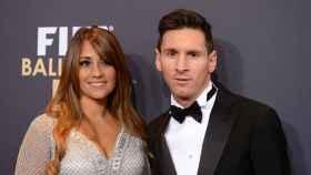Antonella Roccuzzo y Lionel Messi.