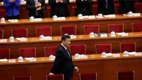 Xi Jinping llega al pleno de la Asamblea Nacional Popular de China. Foto: Reuters