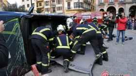 zamora bomberos simulacro (8)