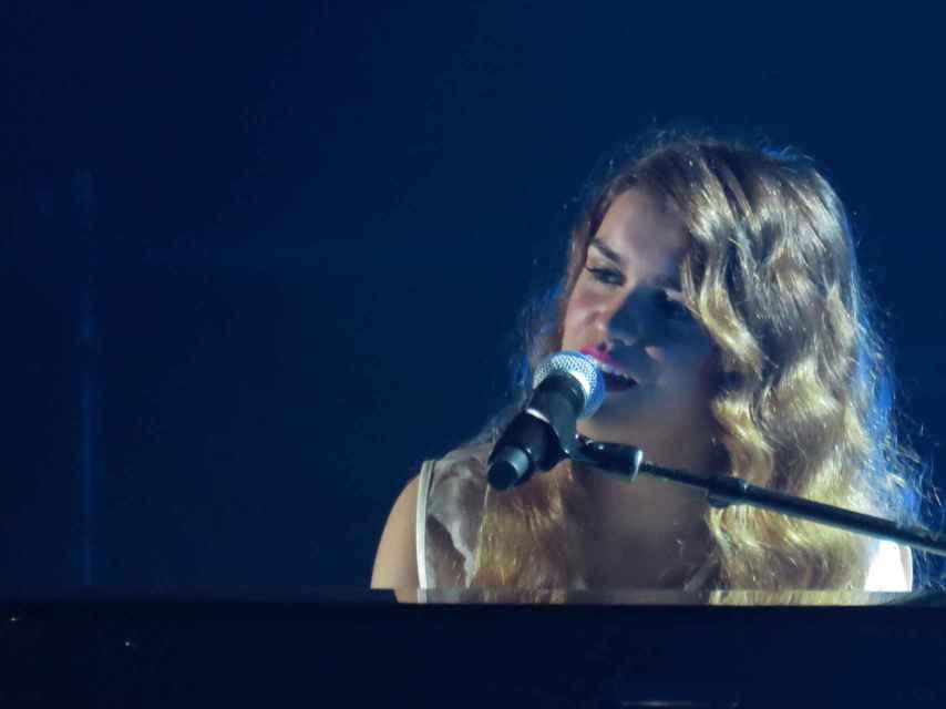 Amaia Romero durante el concierto de 'OT' en Barcelona. GTRES.