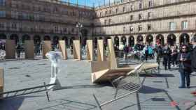 Paneles viento plaza