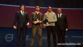 Fernando Belasteguín y Pablo Lima no faltaron en la presentación.