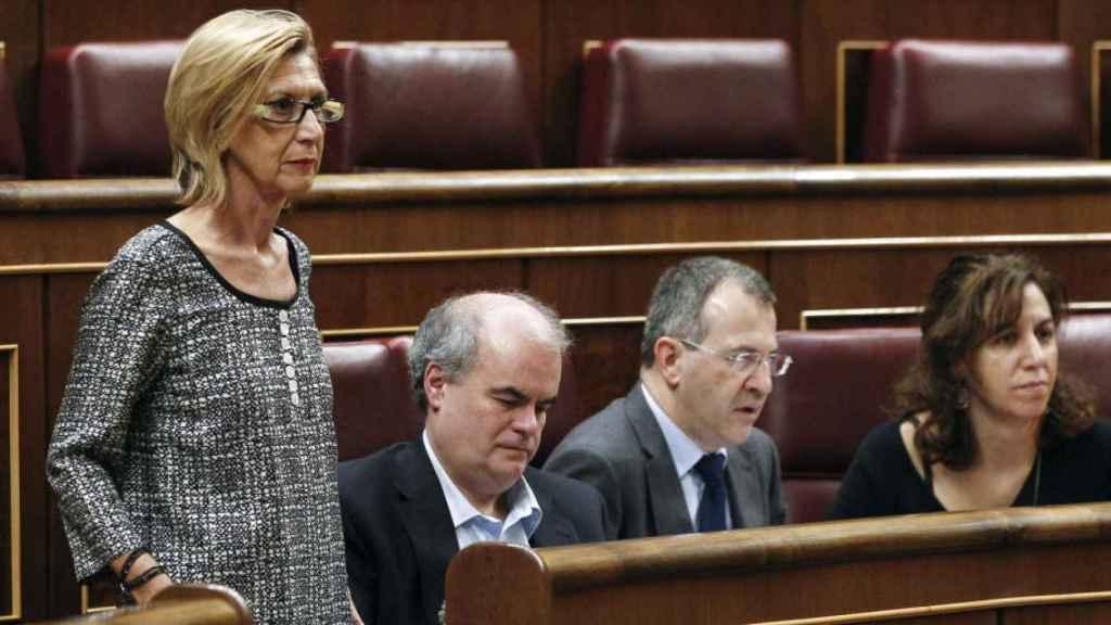 Rosa Diez junto a Gorriarán, Anchuelo y Lozano, en el Congreso./