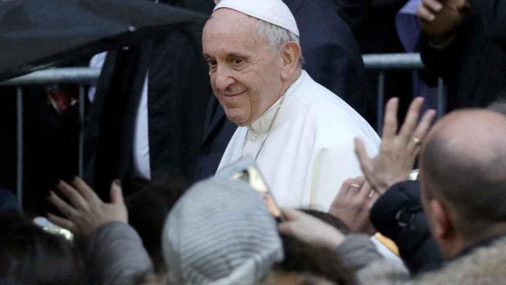 El papa Francisco tras una misa en el Trastevere de Roma esta semana