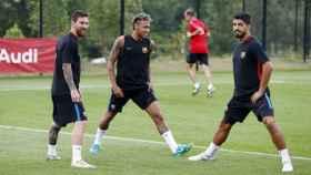Messi, Neymar y Suárez. Foto fcbarcelona.es