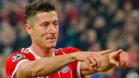 Lewandowski celebra un gol. Foto Instagram (@_rl9)