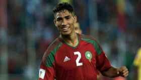 Achraf con Marruecos. Foto Twitter (@AchrafHakimi)