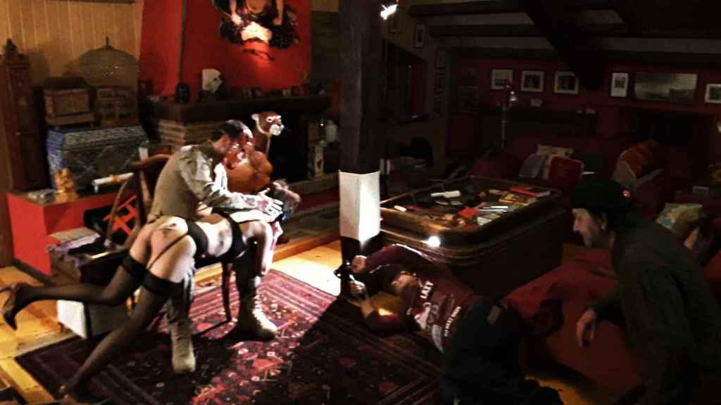 Una de las escenas de La doma, dirigido por Sánchez Dragó.