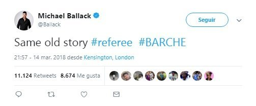 Ballack denuncia las ayudas al Barça:La misma vieja historia