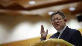 Ximo Puig, presidente de la Generalitat Valenciana, este miércoles en el Senado.