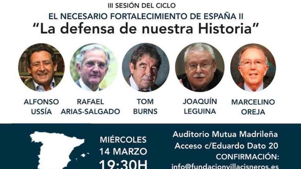 Ussía, Arias-Salgado, Burns, Leguina y Oreja, entre los firmantes.