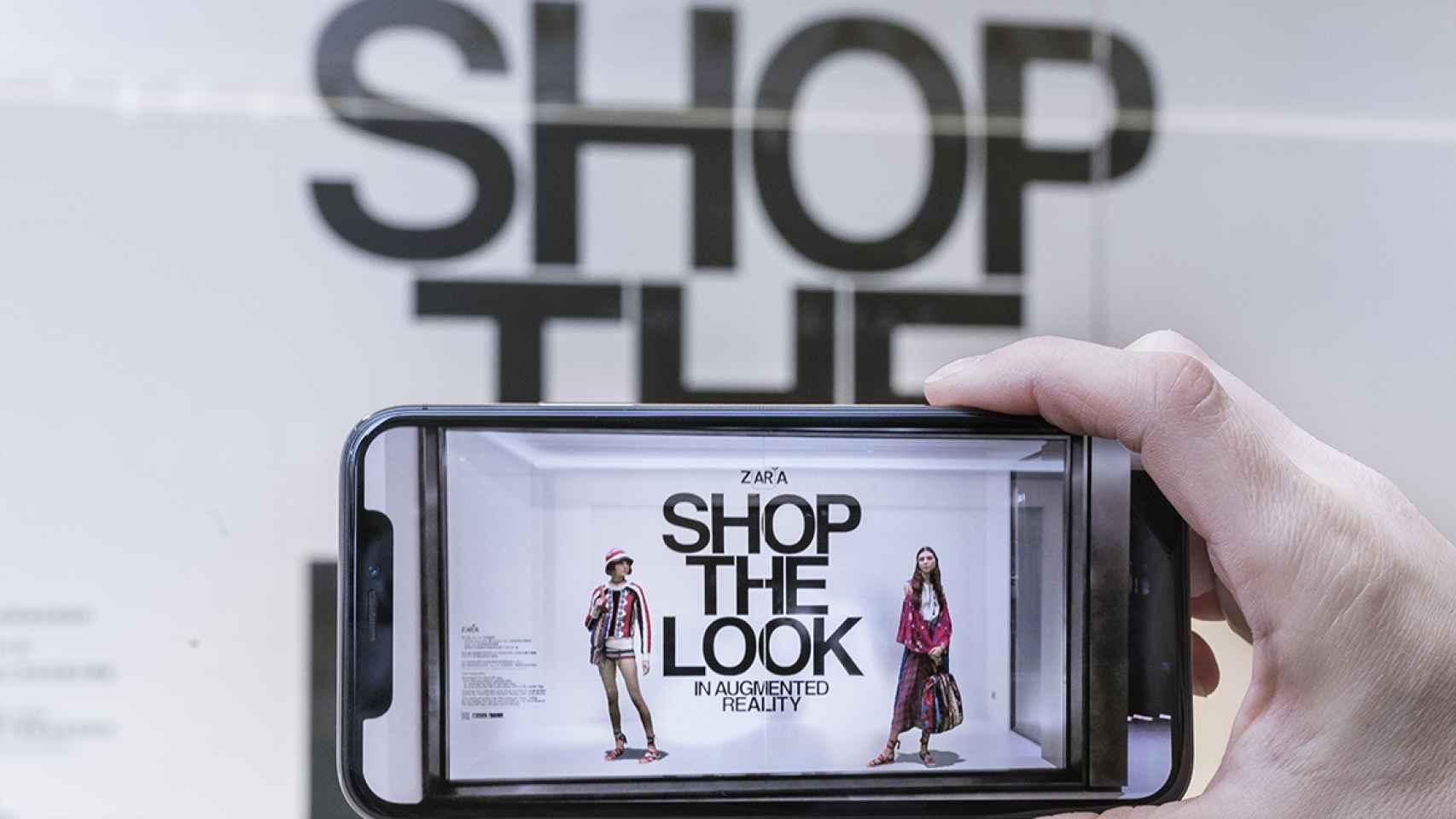 Una app de realidad aumentada, lo último de Inditex.