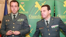 El teniente coronel José Hernández Mosquera y el comandante Juan Jesús Reina.
