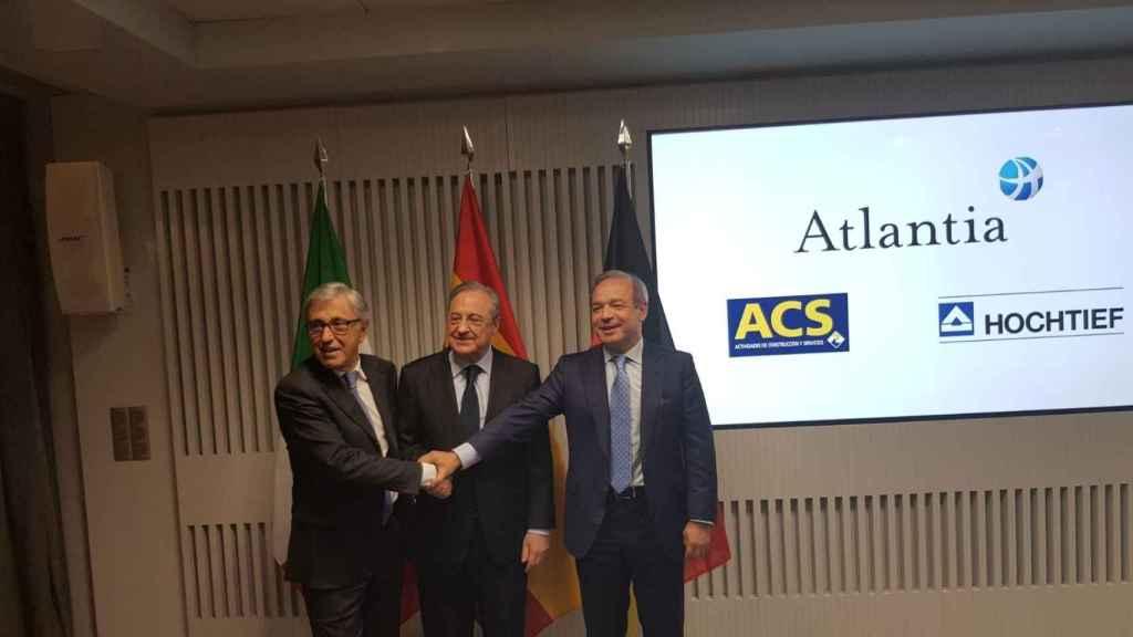 """ACS, Hochtief y Atlantia sellan su alianza: """"Abertis es una apuesta a largo plazo"""""""