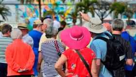 Un grupo de turistas.
