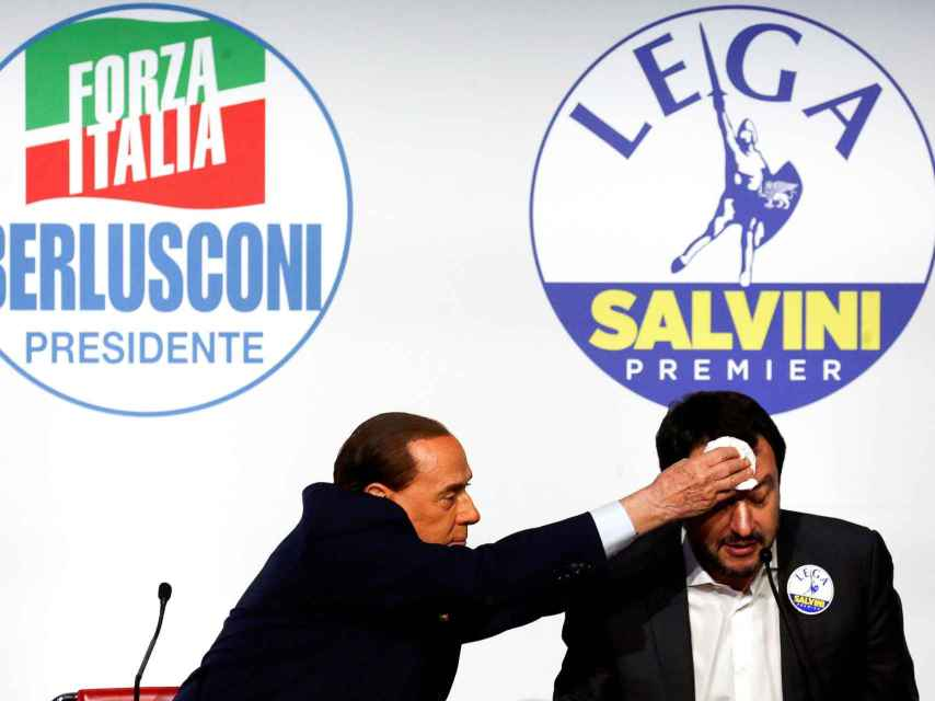 Berlusconi y Salvini en una imagen de archivo