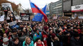 Manifestación en Bratislava tras el asesinato de Kuciak.