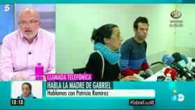 El periodista Manuel Vilasero en El programa de Ana Rosa durante la llamada de la madre de Gabriel