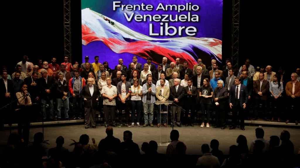 Acto de presentación de Frente Amplio el pasado 8 de marzo en Caracas