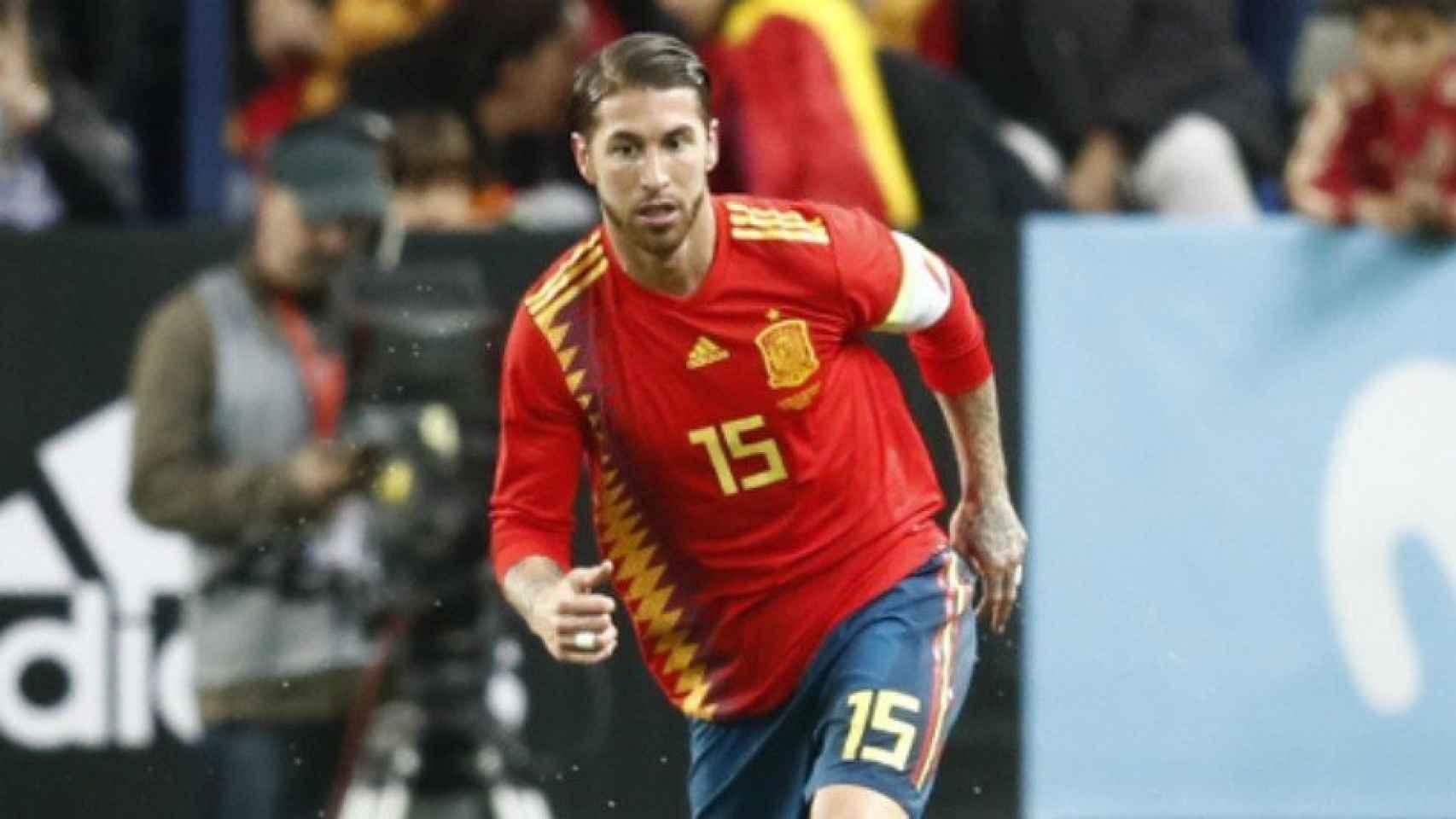 Ramos con la Selección.