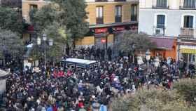 Imagen de la plaza de Lavapiés este viernes por la tarde.