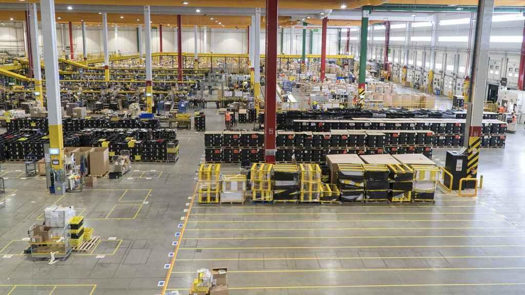 Imagen panorámica de la planta de Amazon en San Fernando de Henares.