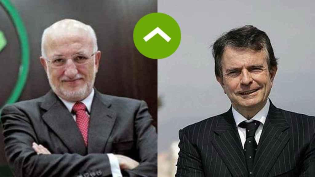 COMO LEONES: Juan Roig, presidente de Mercadona, y Antonio Catalán, presidente de AC Hoteles
