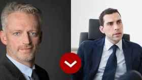 A LOS LEONES: Jean Charretteur, director general de Toys r Us España, y Pablo Pereiro presidente de Vértice 360