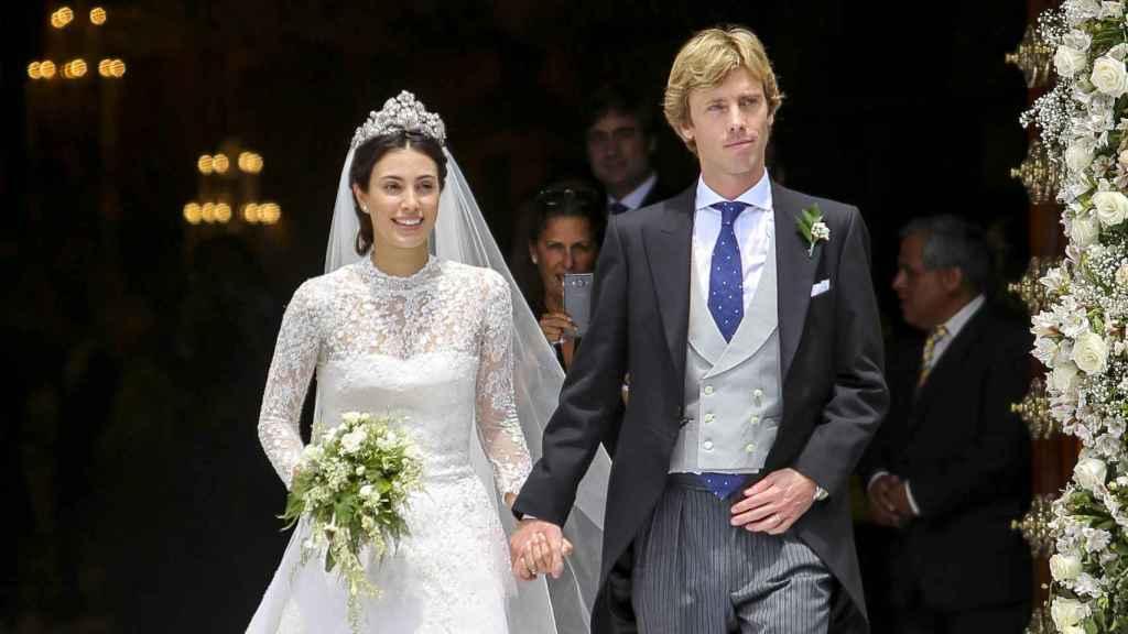 Christian de Hannover y Alessandra de Osma convertidos en marido y mujer.