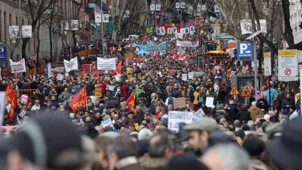 Una movilización de jubilados en Madrid.