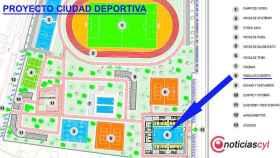 Plano proyecto Ciudad Deportiva, pabellon cubierto