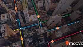 Moovit maneja mil millones de puntos de datos de transporte público.
