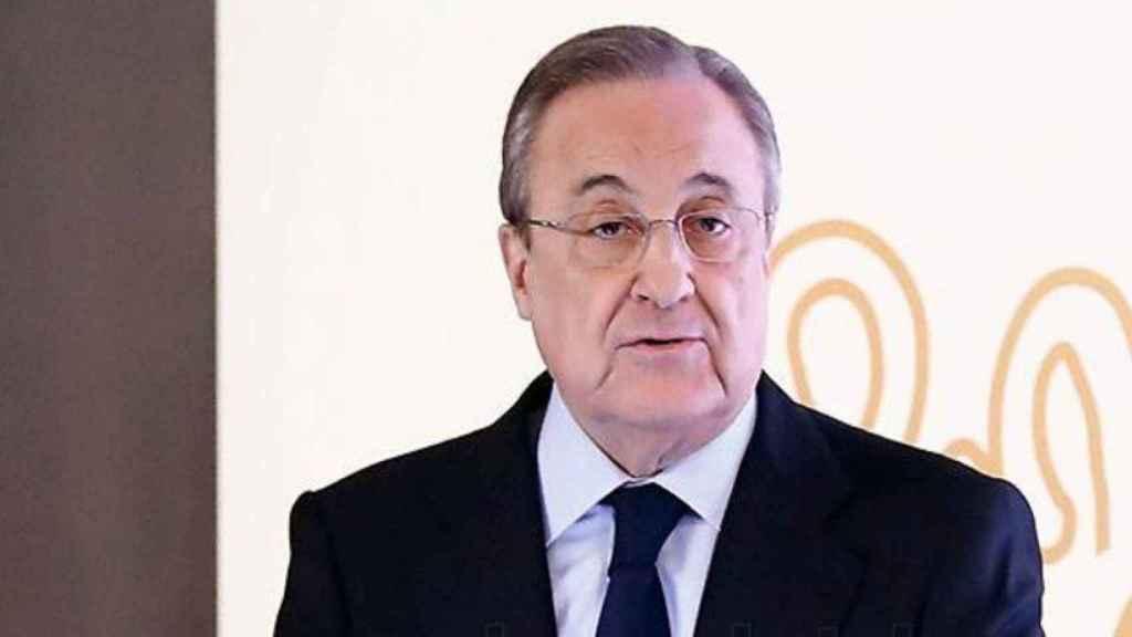 Florentino Pérez, durante la presentación del Corazón Classic Match