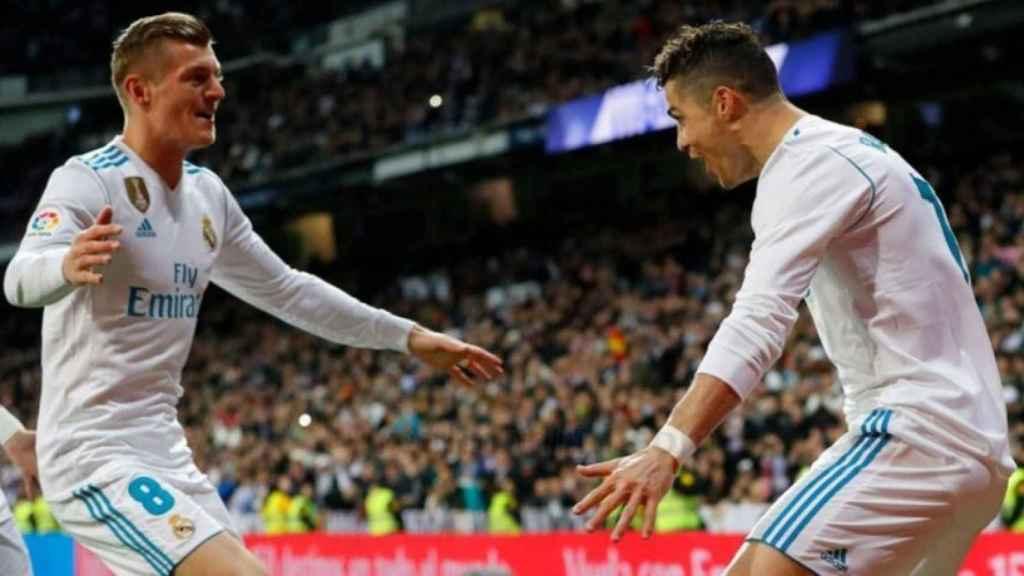 Kroos y Cristiano, en el Real Madrid - Girona.