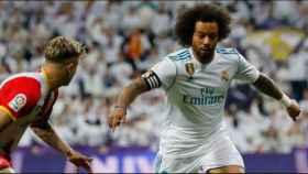 Marcelo, contra un jugador del Girona