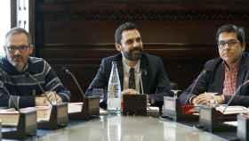 Torrent presidiendo la Junta de portavoces del Parlament