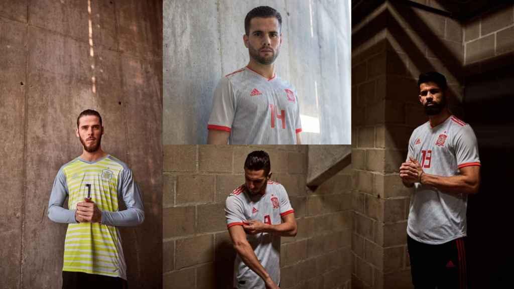Nueva camiseta de la selección española de fútbol.