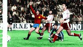 España y Malta de clasificación para la Eurocopa del 84.