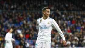 Lucas Vázquez, contra el Girona. Foto: Pedro Rodriguez/El Bernabéu