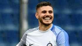 Icardi celebra un gol en la Serie A. Foto: Twitter (@Inter)