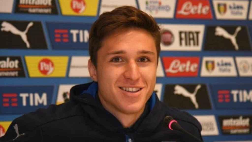 Chiesa, jugador de la Selección italiana. Foto: vivoazzurro.com