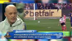Alfredo Duro debate en El Chiringuito. Foto: Twitter (@elchiringuitotv)
