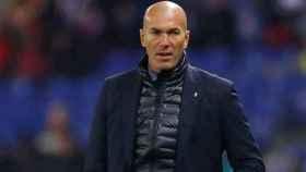 Zidane, en el partido contra el Espanyol